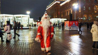 Дед Мороз в Москве!