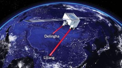 Satellite-based photon entanglement