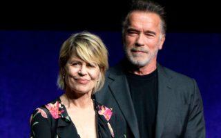 Linda Hamilton and Arnold Schwarzenegger at CinemaCon